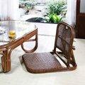 籐 折りたたみ座椅子 籐家具 イス 椅子 座椅子 チェア ローチェア フロアチェア リクライニング 折りたたみ式 ラタン 寝室 和室(代引不可)【送料無料】