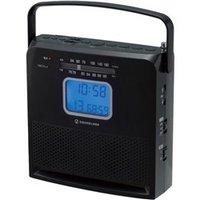 小泉成器 SAD4958K 持ち運び便利なCDラジオ ブラック