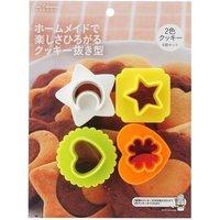 【カード決済OK】貝印 クッキー型 2色 クッキー抜型 4個セット kai House SELECT DL-6195 4901601299304