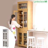 食器棚 上置き棚セット 北欧風 Lycka land(リュッカ ランド) 幅60cm ( 送料無料 キッチン収納 カップボード )