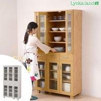 食器棚 北欧風 Lycka land(リュッカ ランド) 幅90cm ( 送料無料 キッチン収納 カップボード )
