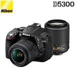 ニコン デジタル一眼レフカメラ D5300 ダブルズームキット2 D5300WZOOMKITBK2 ブラック 【送料無料】