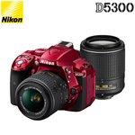 ニコン デジタル一眼レフカメラ D5300 ダブルズームキット2 D5300WZOOMKITRD2 レッド 【送料無料】