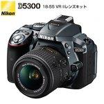 ニコン デジタル一眼レフカメラ D5300 18-55 VR IIレンズキット D5300-18-55VRII-LK-G グレー 【送料無料】