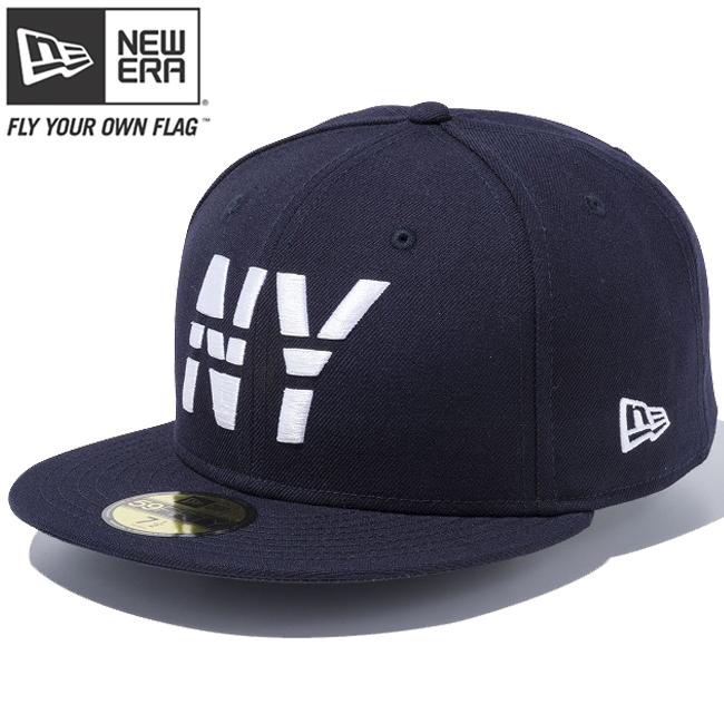 ニューエラ 5950キャップ ホワイトロゴ ニューヨーク ラインド NY ネイビー ネイビー スノーホワイト