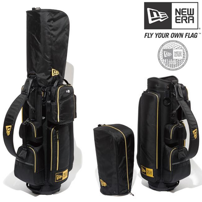 ニューエラ ゴルフ カート キャディーバッグ ブラック ゴールド ゴールド