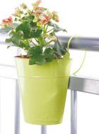 プランター 植木鉢 おしゃれ 手すりや柵に吊るすカラーフラワーポット 180×90×210 ベランダ/バルコニー/テラス/ガーデニング/園芸用品