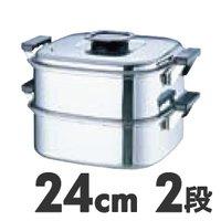 電磁調理器対応蒸し器IH対応 桃印 18-0 角型蒸器 24cm 2段お取り寄せ商品となる為、お届けまでに1週間~10日程度掛ります。キャンセル・変更不可