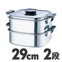電磁調理器対応蒸し器IH対応 桃印 18-0 角型蒸器 29cm 2段お取り寄せ商品となる為、お届けまでに1週間~10日程度掛ります。キャンセル・変更不可