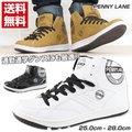 送料無料 PENNY LANE 9907 メンズ カジュアル スニーカー ハイカット シンプル ブラック ホワイト ペニーレイン