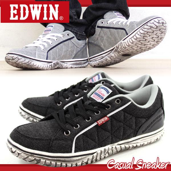 スニーカー ローカット メンズ 靴 EDWIN ED,713 靴のニシムラ【ポンパレモール】