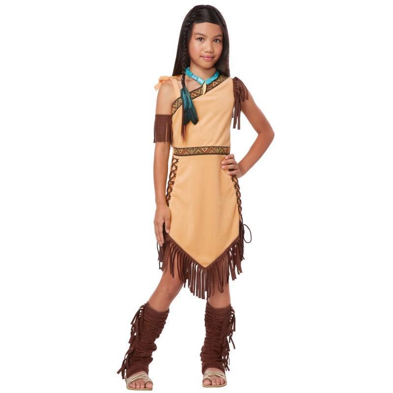 ポンパレモール ファッション  ネイティブアメリカン インディアン プリンセス 子供用 女の..