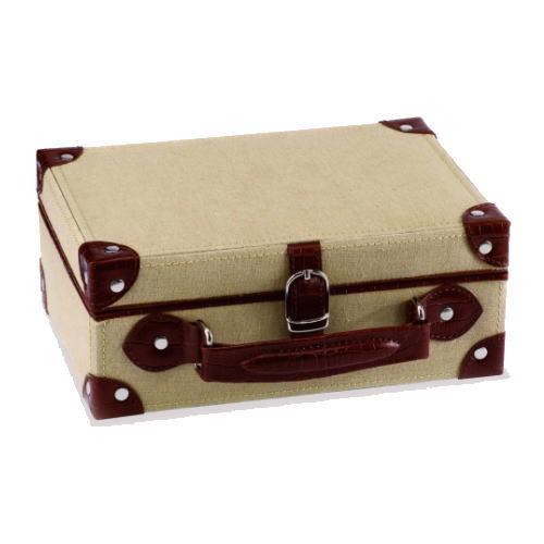 【ウルフデザイン社】ジュエリーボックス(VINTAGE 3134) ブラウン トラベルなどで持ち運び便利な携帯用.