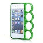 iPhone5S/5/SE対応 メリケンサック型ケース グリーン[メール便発送、送料無料、代引不可]
