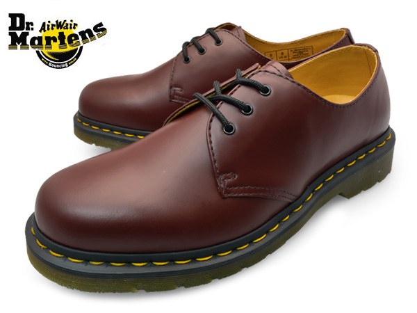Dr.Martens 3ホール ギブソン シューズ  CHERRY RED