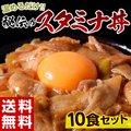 《送料無料》秘伝の『スタミナ丼の具』 100g×10食セット ※冷凍 ☆