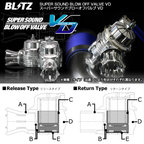 BLITZ ブリッツ SUPER SOUND BLOW OFF VALVE VD Releaseタイプ アルトワークス (ALTO WORKS) 98/10- HA22S K6A 【70160】