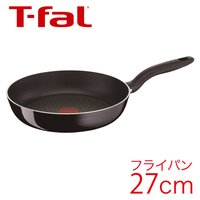 T-fal ティファール フライパン ハードチタニウム ブラック フライパン 27cm 【IH不可】 D47406