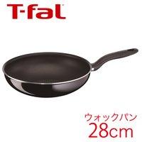 T-fal ティファール フライパン ハードチタニウム ブラック ウォックパン 28cm 【IH不可】 D47419