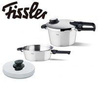 Fissler フィスラー 圧力鍋 プレミアム4.5L+スキレット2.5L+無水フタセット 622-301-11-093 