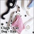 slam design dog-end cloth-cat ドッグエンド クロスキャット タオルホルダー【フェイスタオル クロスホルダー 洗面所 ギフト】