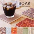 SOAK coaster・ソーク コースター【吸水 キッチン雑貨 セラミック製】