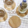 LOGIA COASTER SET ROUND・ロギア コースターセット ラウンド【木目 テーブルウェア】