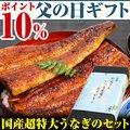 【父の日ギフト ポイント10%】超特大うなぎ蒲焼き1本・きざみうなぎ2食【ウナギ 鰻 贈り物 プレゼント】