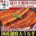 超特大うなぎ蒲焼き 200g-229g×5本セット【送料無料】【ウナギ 鰻 国産 贈り物】