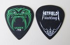 JIM DUNLOP HETFIELD BLK 0.73 ギターピック×12枚
