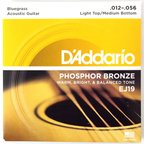 D'Addario EJ19 Bluegrass Light Top Medium Bottom アコースティックギター弦×5セット