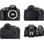 【★SD8GB&カメラバッグ等セット】Nikon デジタル一眼レフカメラ D5300 ボディ ブラック[メール便不可]