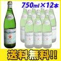 【送料無料】 サンペレグリノ 750mlビン 12本 (炭酸水) 【9C0411】