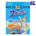 おひとり様3個まで【最安値挑戦】猫砂 色がかわる紙製猫砂 ファインブルー 6L