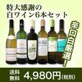 【送料無料】第78弾!採算度外視の謝恩企画!京橋ワイン厳選!特大感謝の大満足白ワイン6本セット!
