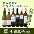 【送料無料】第88弾!採算度外視の謝恩企画!京橋ワイン厳選!特大感謝の大満足白ワイン6本セット!