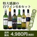【送料無料】第85弾!採算度外視の謝恩企画!京橋ワイン厳選!特大感謝の大満足白ワイン6本セット!