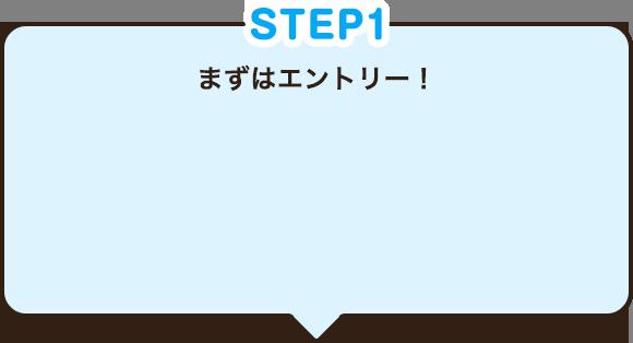 STEP1 まずはエントリー!