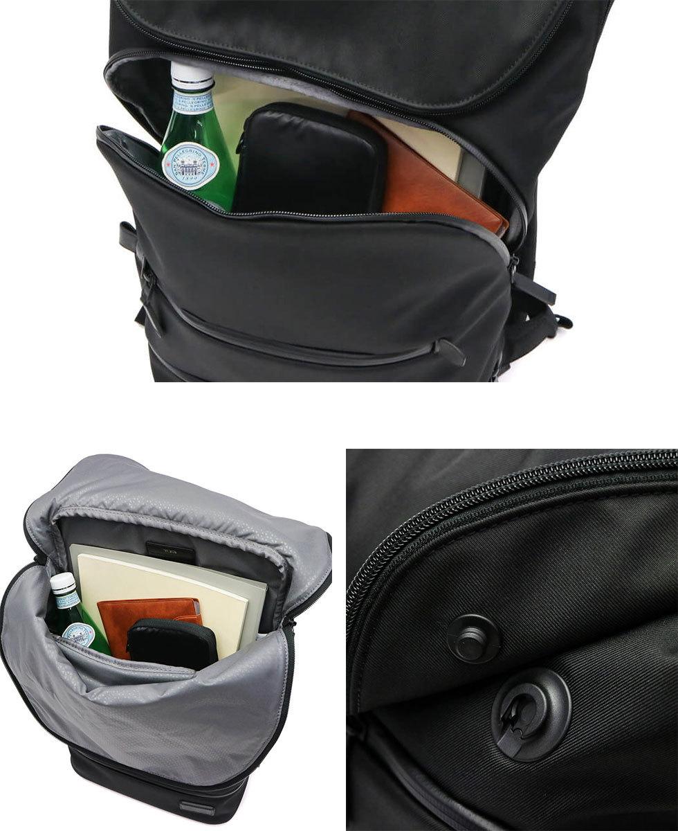 55bf64818821 バッグ底面の保護パッド付きのジップポケット、スマートフォンや鍵などの使用頻度の高いアイテム収納に便利なフロントポケット、さらにはリュックストラップ部には  ...