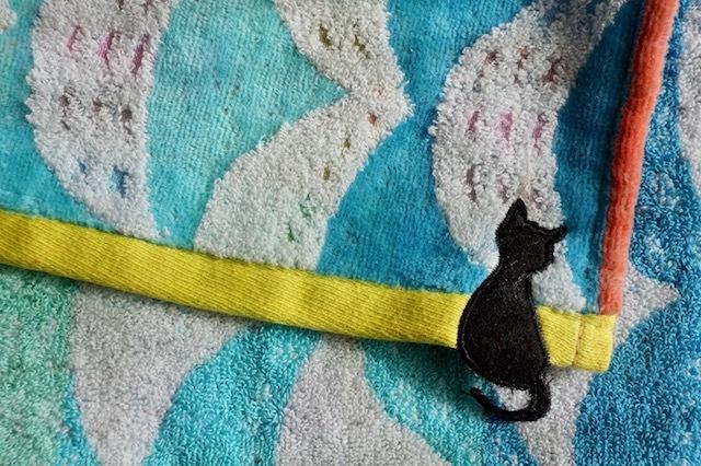 バスタオル アーク 月と猫 おしゃれ ジャガード 送料無料