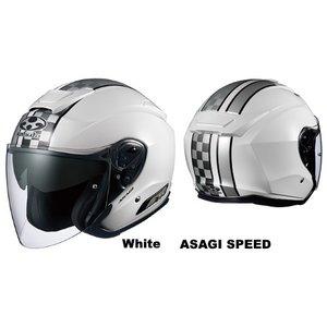 トップ OGK( オージーケー ) ASAGI SPEED White SizeM 支払い限定(または銀行振込), ボディピアス専門店 Body-Style cb3b7167