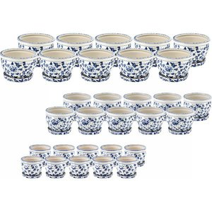 【正規通販】 【送料無料】【メーカー直送/き】 白・青 陶器植木鉢30点セット(受皿付) 花柄 白・青 花柄 CV34/3DKB4-10【ギフト対応】, モデルノ:c181aaaf --- abizad.eu.org