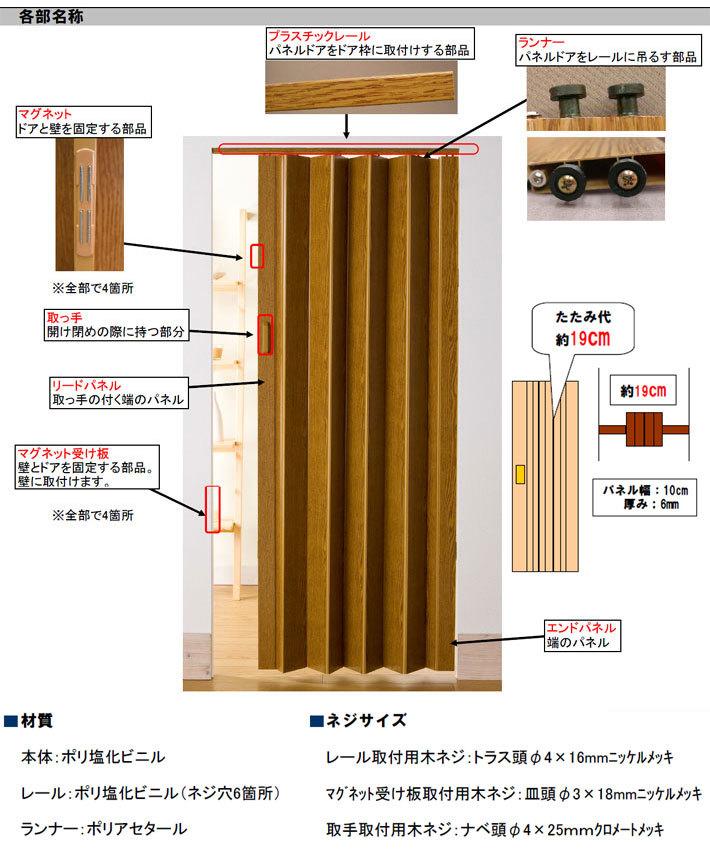 パネルドア「コルタ(窓なしタイプ)」規格サイズ