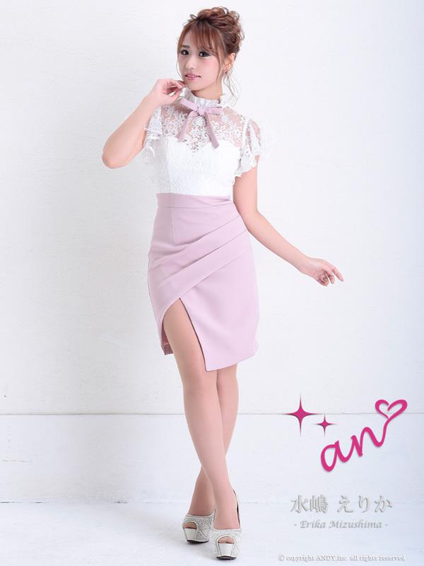 an ドレス AOC-2956 ワンピース ミニドレス Andyドレス アンドレス キャバクラ キャバ ドレス キャバドレス