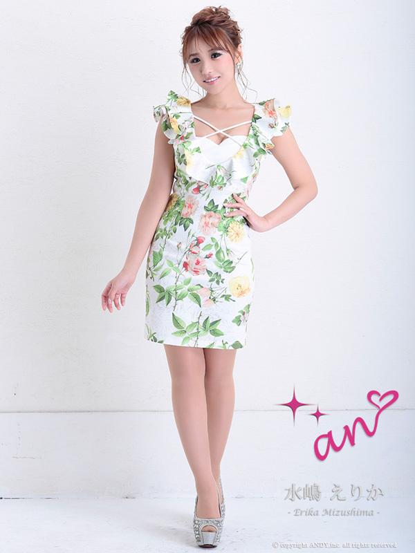 an ドレス AOC-2968 ワンピース ミニドレス Andyドレス アンドレス キャバクラ キャバ ドレス キャバドレス