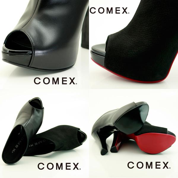 COMEX【コメックス】サンダル☆高級本革ブーティー(オープントゥ)comex7252【送料無料】日本製本革ハイヒール(レディース)