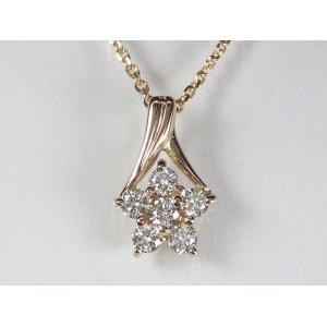 新しいブランド K18PG ペンダント ピンクゴールドダイヤモンド フラワー ペンダント ネックレス, 双葉郡:fa50d523 --- pyme.pe