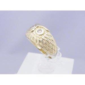 【通販激安】 0.09ダイヤモンド K10イエローゴールド フクロウのリング, MORE Goods Market:1e7496b4 --- vertriebsrally.de