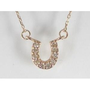 公式の  K10PG ピンクゴールドダイヤモンド馬蹄 ペンダント ネックレス, 鍵と防犯の専門店smile-security 8dd61c4c