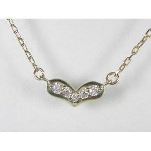 美しい K10YGダイヤ ペンダント ネックレス, バーコードプリンタサトー製品販売 02c4dee7